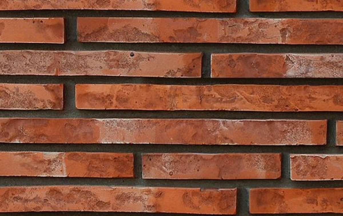 фасадная плитка ригельформат БКЗ, Дербент, красный, 515x100x38