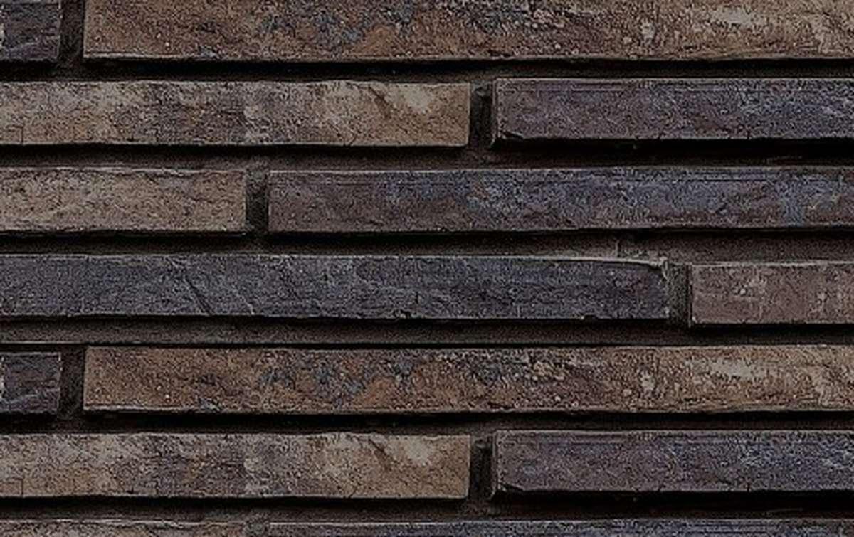 фасадная плитка ригельформат БКЗ, Гангут-60, темно-коричневый, 515x100x38