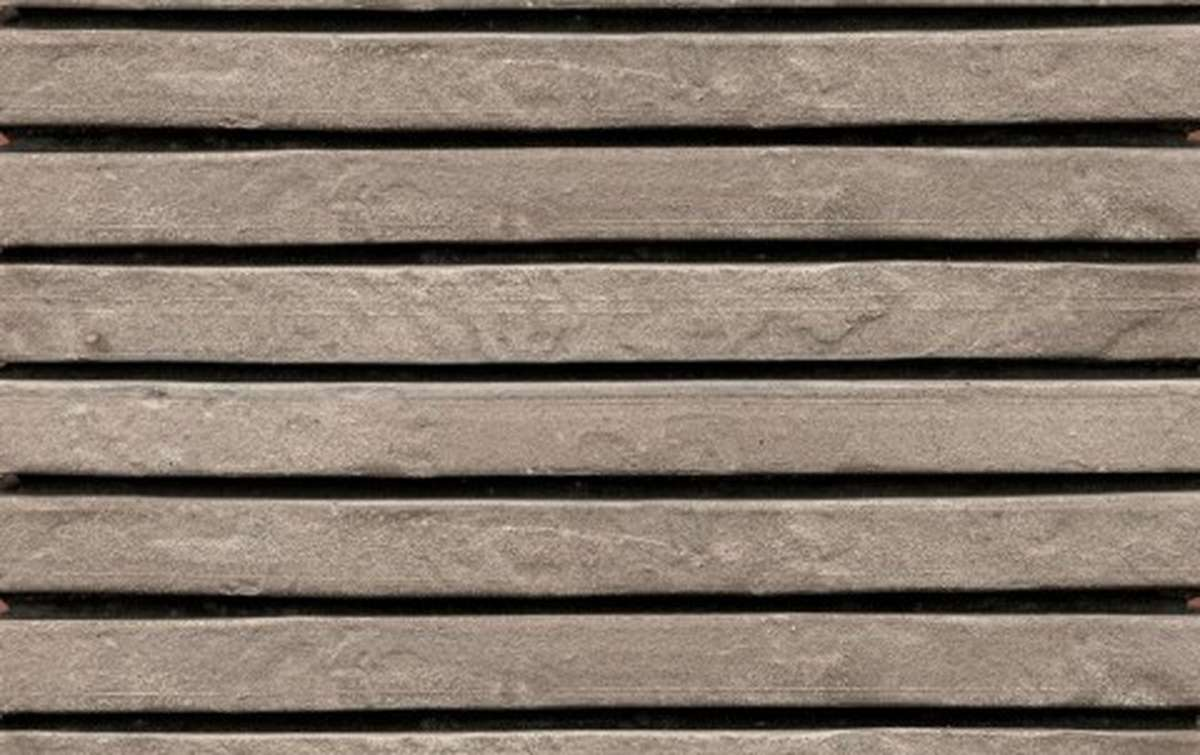 фасадная плитка ригельформат БКЗ, Нарва, серый, 515x100x38