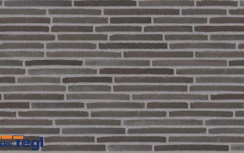 Кирпич ригель формата Randers Tegl антрацит RT150 468x108x38