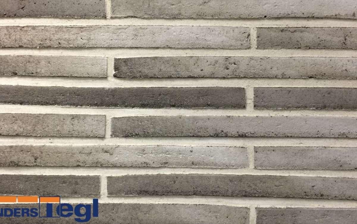 Кирпич ригель формата Randers Tegl серый RT152 468x108x38