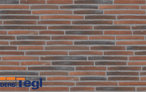 Кирпич ригель формата Randers Tegl красный 468x108x38