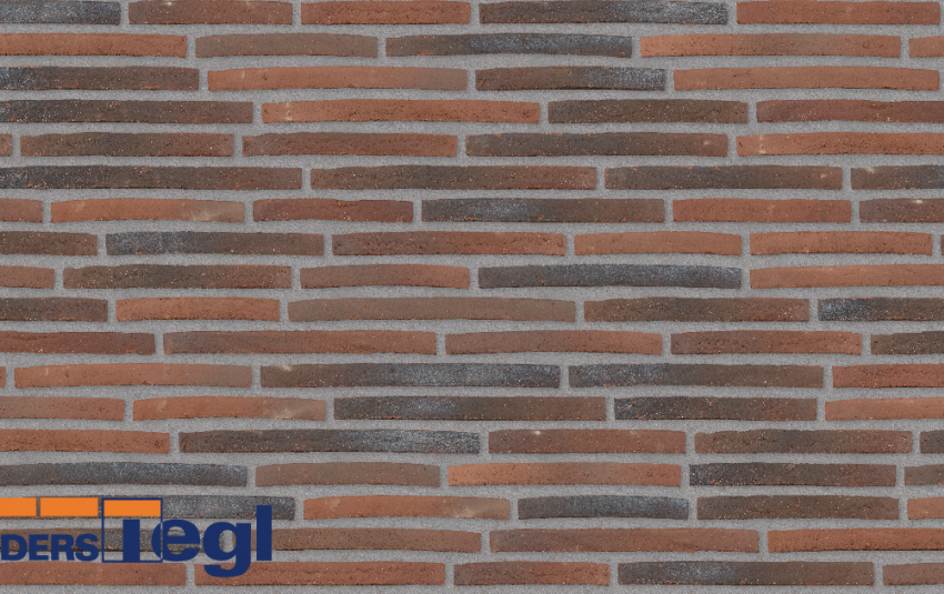 Кирпич ригель формата Randers Tegl красный RT158 468x108x38