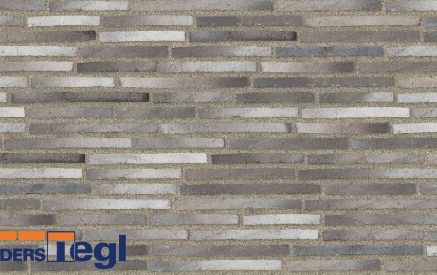 Кирпич ригель формата Randers Tegl многоцветный RT160 468x108x38