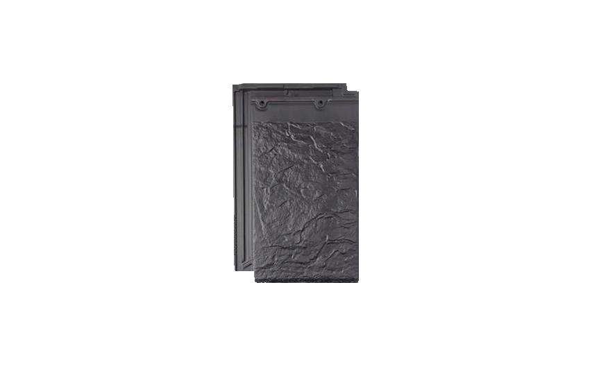 Клинкерная черепица La Escandella, Planum, цвет Blackstone Klinker, черный камень