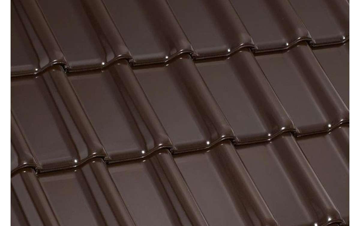 керамическая черепица laumans серия tiefa xl top №23 braun, темно-коричневый