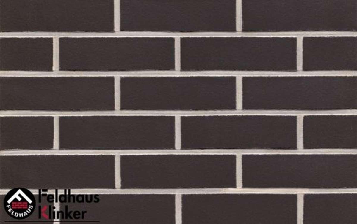 Термопанели Регент с клинкерной плиткой Feldhaus Klinker anthracit liso R700NF9, 750x656x20