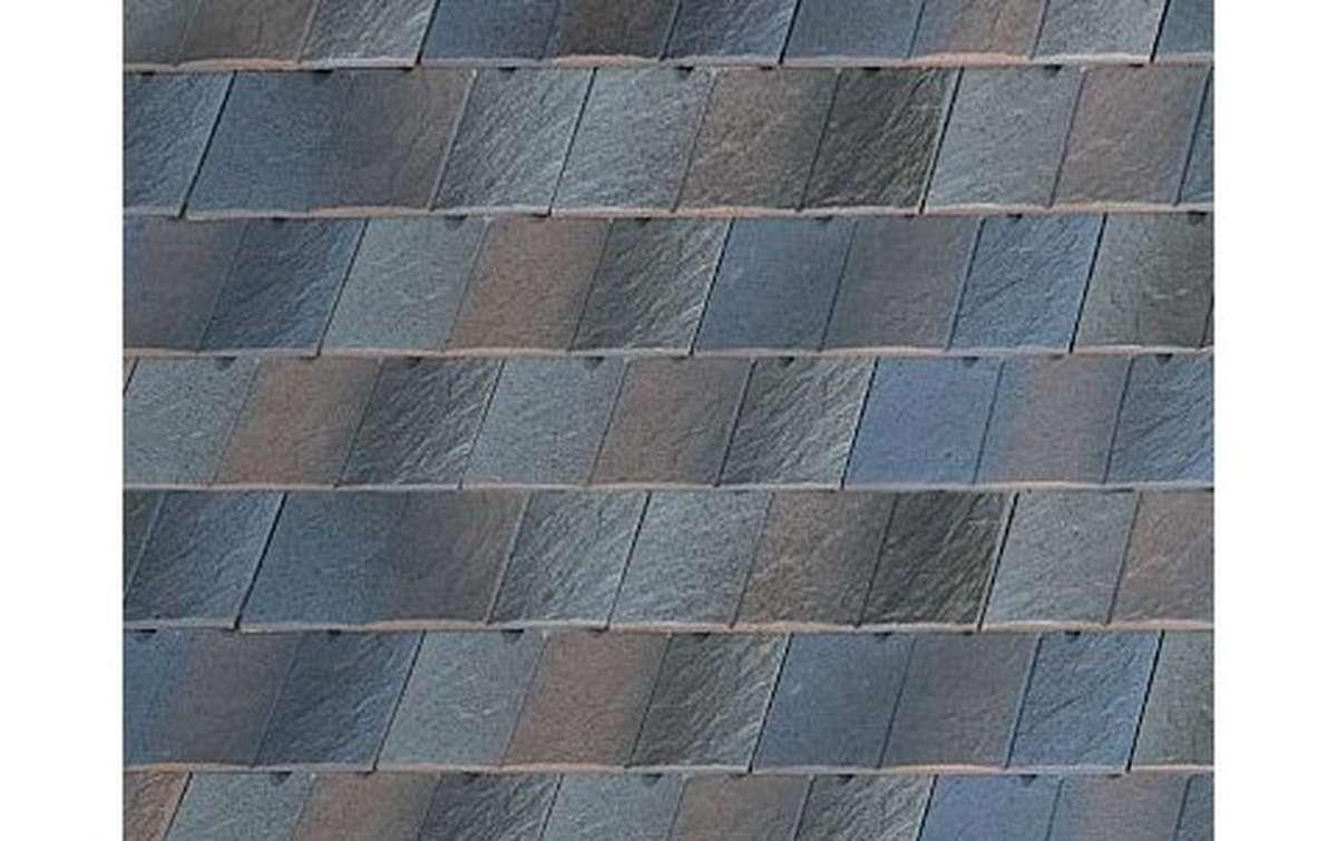 Клинкерная черепица La escandella, Visum3, цвет Idella grey, сине-серый