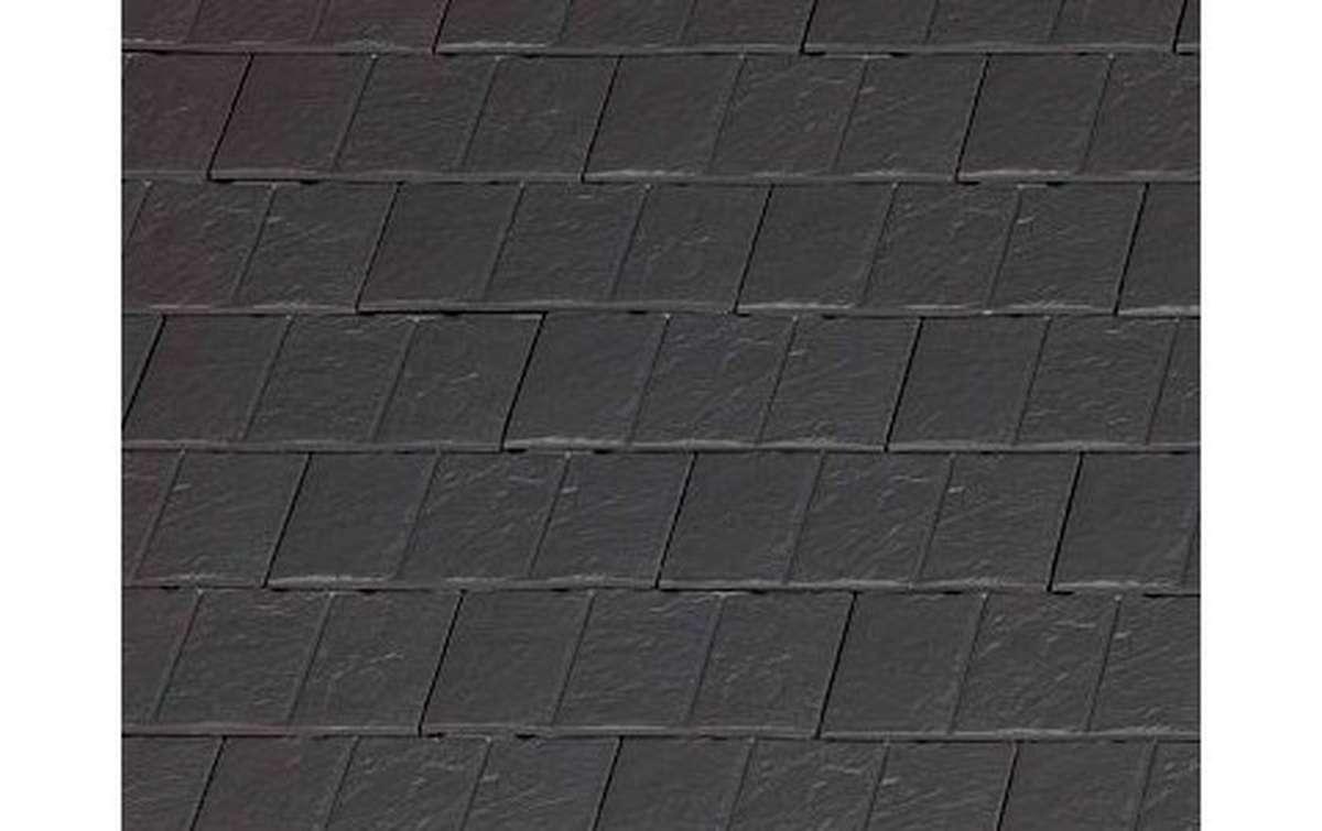 Клинкерная черепица La escandella, Visum3, цвет Slate klinker, черный