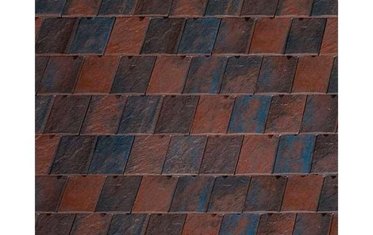 Клинкерная черепица La escandella, Visum3, цвет Russet klinker, коричневый пестрый