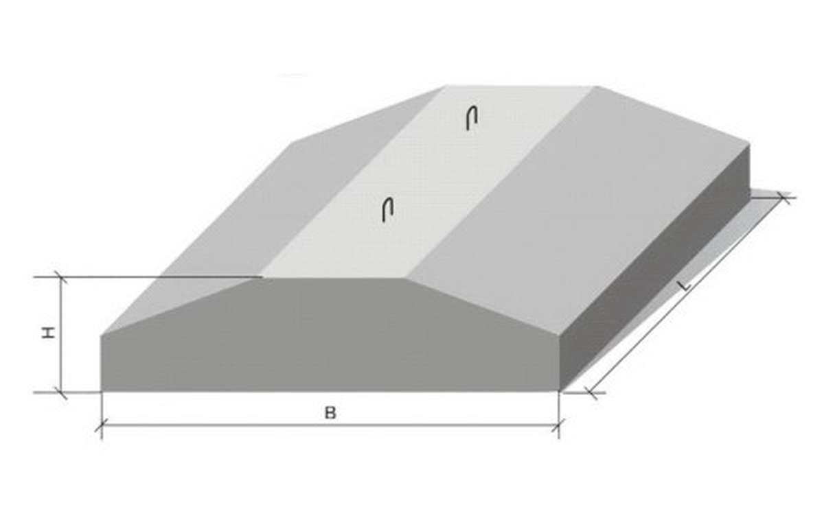 фл 6.12-4, плиты ленточного фундамента по сер. 1.112-5 в.0-4